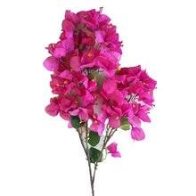 90cm 70 cabeçalhos 8 folhas flores artificiais bougainvillea para casa de casamento jardim simulação decorativa falso flor de ameixa