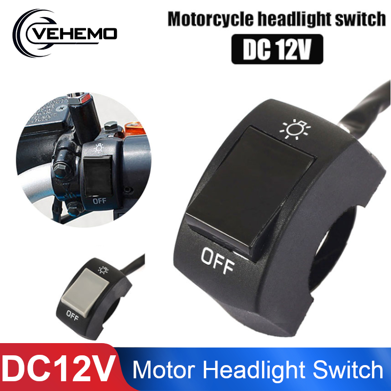 Replacement-Parts Spot-Light Motorcycle-Headlight-Switch Universal Bike ATV Vehemo On/Off