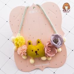 Collar para niños hecho a mano estilo coreano de tela de gasa de flores preciosas para su esposa accesorios de colocación para niños