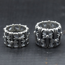925 Sterling Silver Vintage Ring Cross Tombstone Europe and America Hollow Punk Ring Men and Women Thai Silver Jewelry цена 2017