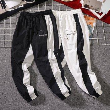 Męskie leginsy letnie deskorolki spodnie dresowe dla joggerów mężczyźni jesień moda sznurkiem Sport Streetwear Hip Hop spodnie haremki spodnie tanie i dobre opinie Harem spodnie CN (pochodzenie) Plisowana Poliester COTTON Kieszenie REGULAR 2 - 3 CY6528 Jogger Pants Midweight Suknem Pełnej długości