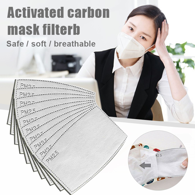 PM2.5 Mask Filter Face Mask Breathing Insert Anti-dust Fog Mouth Mask Fliters Paper