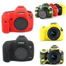 Silikon cilt DSLR kamera çantası vücut çantası Canon EOS R 6D 80D 800D 750D 4000D 5DSR 5D Mark III IV 5D3 5D4 200D SL2 T100 T7i