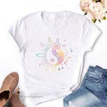 Новая модная женская футболка с графическим принтом солнца Сплетницы