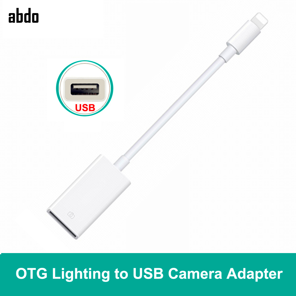 Lighting To USB OTG Date Connect Cable Adapter U Disk Keyboard Headset Microphone Connector For IPad Pro IPhone X XR XS Max 8/7