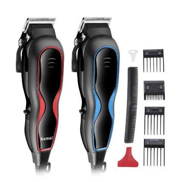 Regulowana elektryczna maszynka do strzyżenia włosów 12W AC220   240V maszynka do strzyżenia włosów Clipper strzyżenie urządzenie do stylizacji z grzebieniem ścinanie włosów maszyna 41D