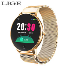 2019 New Color screen women sport smart watch Men women Fitness tracker For iPhone Heart rate blood pressure function smartwatch(China)