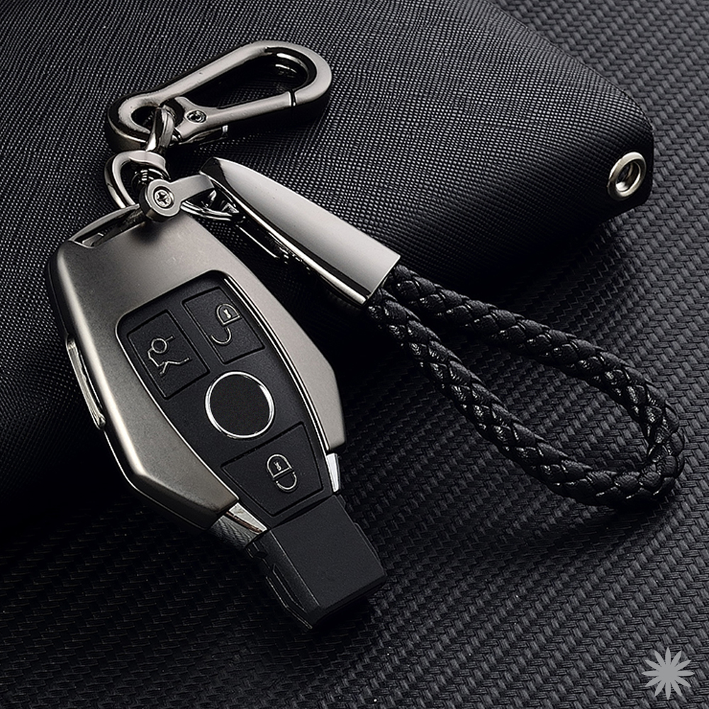 For Mercedes Benz W203 W204 W212 C180 GLK300 CLS CLK CLA SLK C S E Class Remote Smart Car Key Case Cover Zinc Alloy Key Set Bag