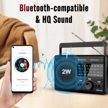 Радиоприемник RETEKESS TR626 AM/FM/SW/LW Bluetooth 3
