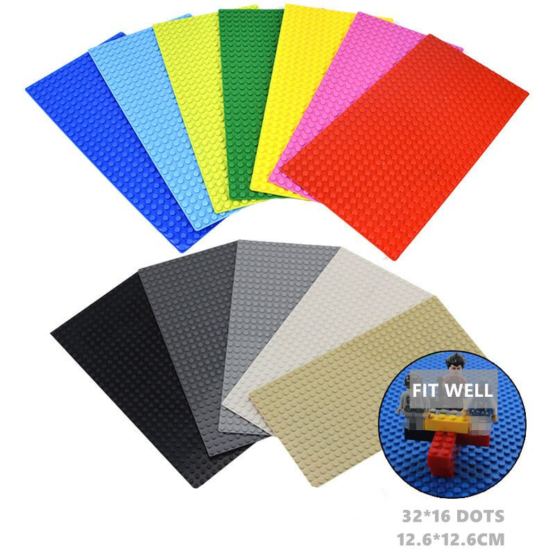 16x32 Classic Base Plates Plastic Bricks Baseplates Suitable City Classic Dimension Building Blocks Construction Toys 16*32 Dots