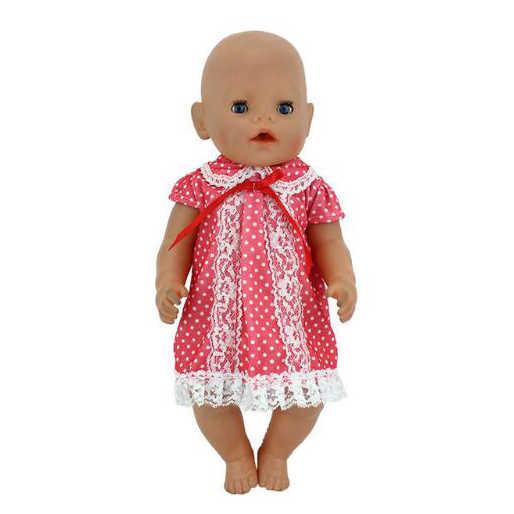 Hot Gaun Boneka ClothesFit 17 Inch 43Cm Pakaian Boneka Lahir Cocok untuk Bayi Birthday Festival Hadiah
