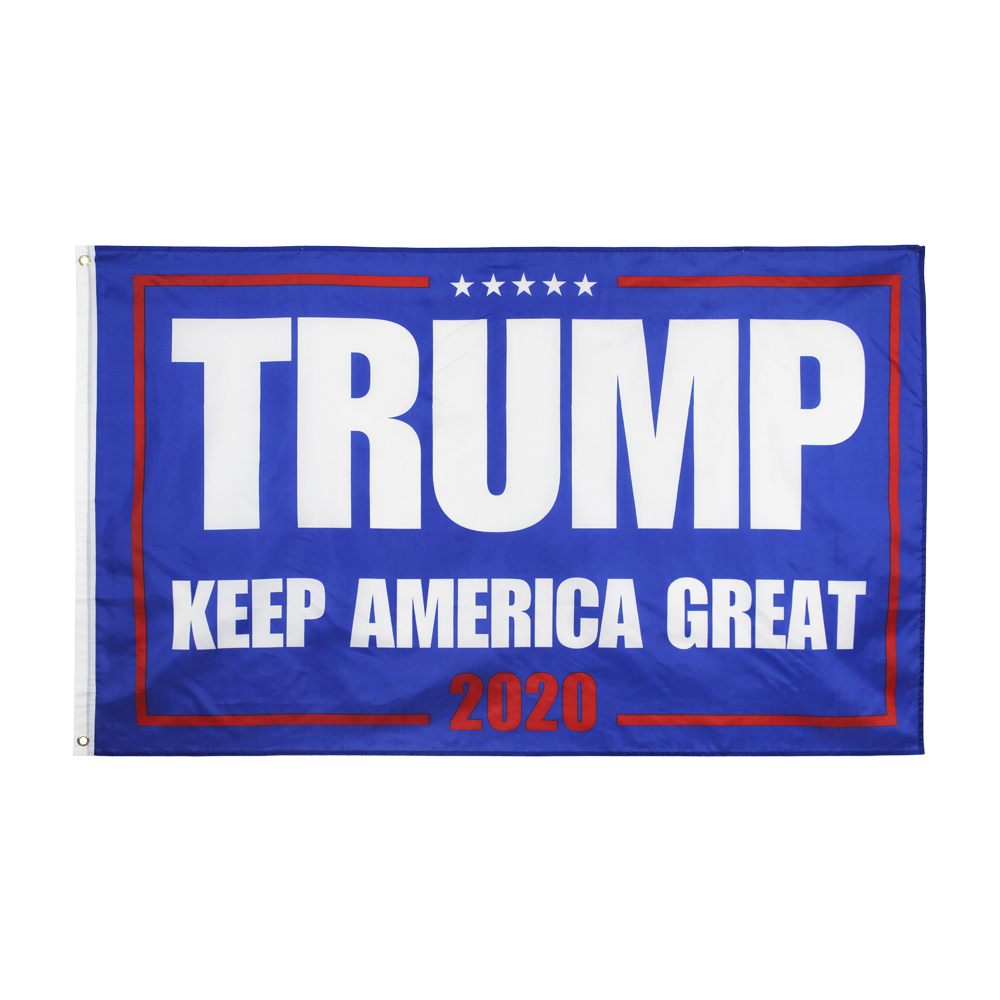 90*150cm KEEP AMERICA GREAT Blue background red word 2020 Trump <font><b>KAG</b></font> Flag image