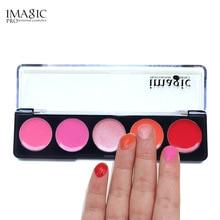 IMAGIC 5 colour Makeup Lipstick Palette Lasting Beauty Pigment Natura Lip Stick Cosmetic Set Waterproof Cosmetics