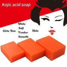 Clareamento da pele kojic ácido sabonetes artesanais glutatione banho facial sabão antibacteriano limpador