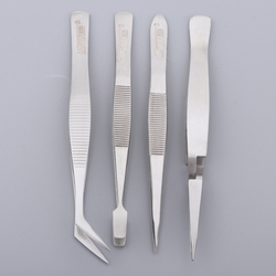 4 Pieces Tweezers Set - Craft Modle Building Jewelry Nail Art Hobby Picking Tool