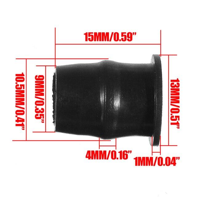 10 adet motosiklet cam M5x16mm vidalar siyah M5 kauçuk fındık neopren Set 5mm Honda/Suzuki/Yamaha /Kawasaki/KTM