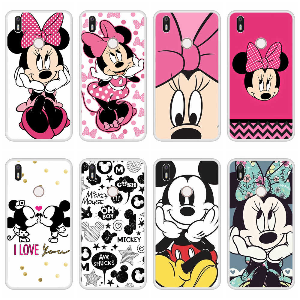 Phone Case for BQ Aquaris X Soft Silicone TPU Mickey Minnie Pattern Painting for BQ X Case Cover