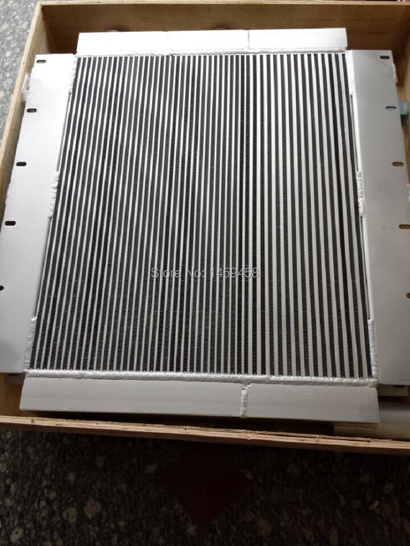Free shipping OEM 22091904 silvery aluminum plate-fin air cooler oil cooler combined radiator for scerw air compressor part