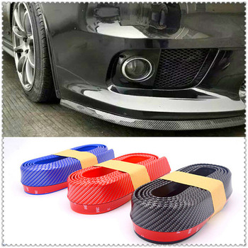 Car Strip Splitter Spoiler Door Bumper Carbon Fiber for BMW E34 F10 F20 E92 E38 E91 E53 E70 X5 M M3 E46 E39 E38 E90 image