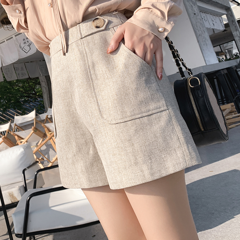 Mishow 2019 Women Shorts High Waist Casual Pocket Straight Shorts Women Short Pants Ladies Shorts MX19A2456