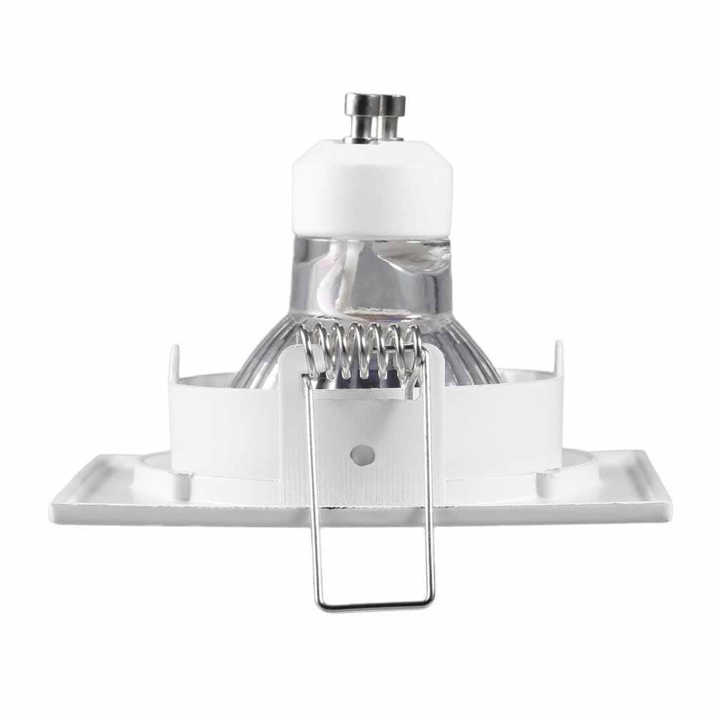 GU10 ชุดไฟฉาย LED Spotlight 48LED 220V 12W 2358SMD หลอดไฟ LED สีขาวสแควร์ห้องรับแขก Downlight เพดานโคมไฟ LED