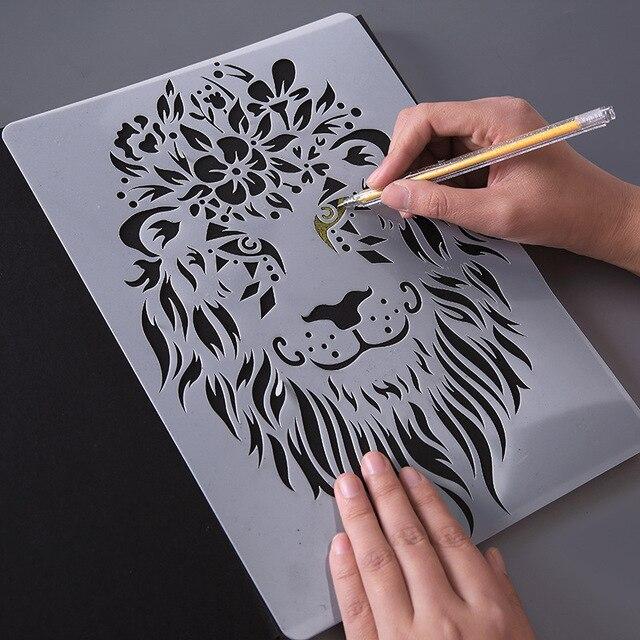 Disegno a mano Stencil Strumenti Giocattolo Per Bambini FAI DA TE Foto Della Novità Giocattolo Educativo Vari Stili Rifornimenti di Arte Creativa Giocattolo Per I Bambini 2