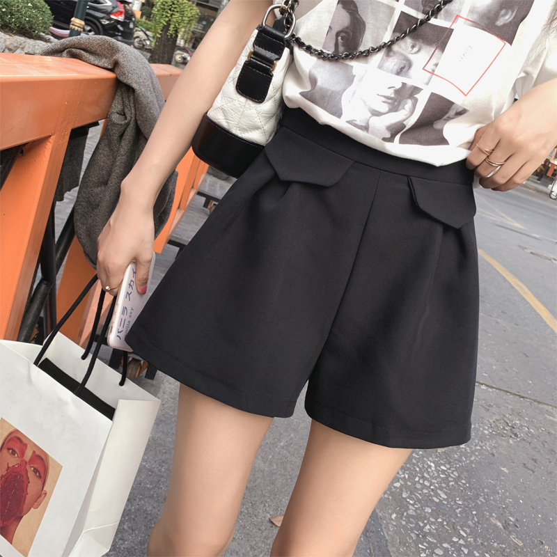Mishow 2019 Women High Waist Casual Shorts Women Korean Loose Shorts Ladies Short Pant MX19A2458