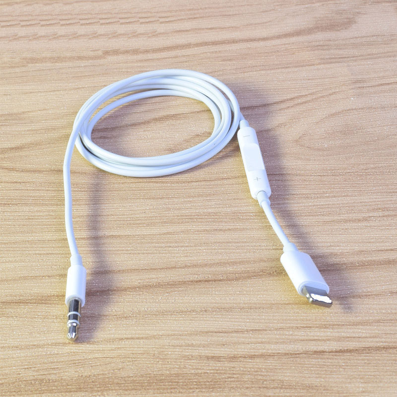 Car AUX Cable Audio Cord For iphone X XS MAX XR 7 8 Plus Converter 3 5mm Jack Headphone Adapter AUX Splitter Cables Line in Mobile Phone Cables from Cellphones Telecommunications