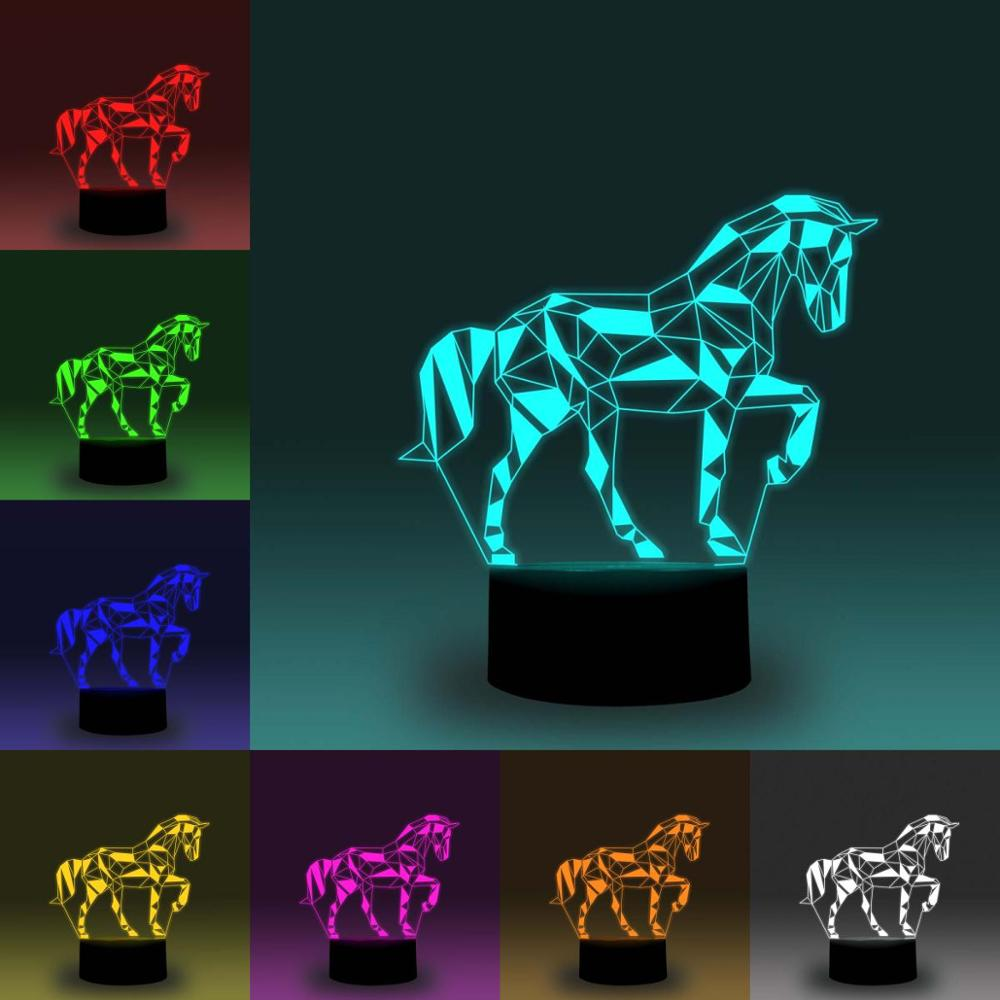 NiteApps 3D Walking Horse Night Light Desk Table Illusion Decoration Lamp Holiday Birthday Gift APP/Touch Control