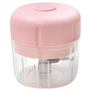 Varejo mini chopper de alimentos, processador de alimentos elétrico cortador de alho moedor de carne moedor de alimentos usb recarregável chopper 250ml (rosa)