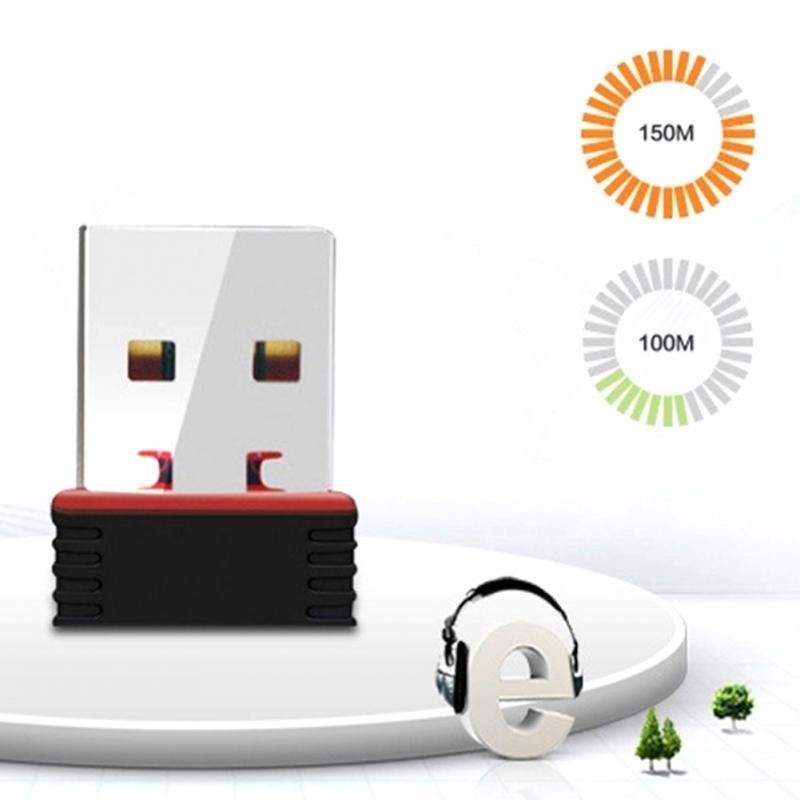 USB 2.0 150Mbps Nano Wireless Wifi Adapter Mini Dongle Receiver Network LAN Card PC 1 Wireless Network Card