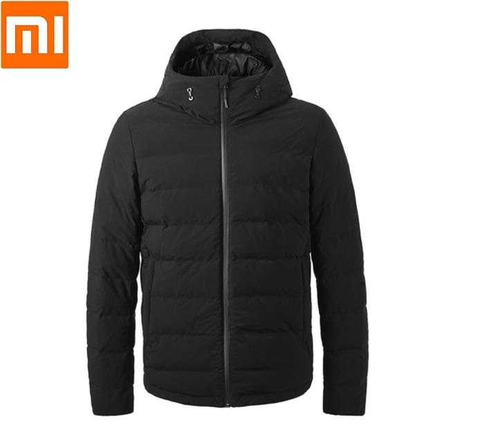 Xiaomi Winter Smart Temperature Control Heat Goose Down Jacket 90% Gray Goose Down Seamless Lock Temperature Long Sleeves Coat