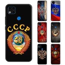 Coque avec drapeau russe CCCP, étui pour Redmi Note 9 Pro, 7, 8T, 9S, Note 8 Pro, 9, 9A, 9C