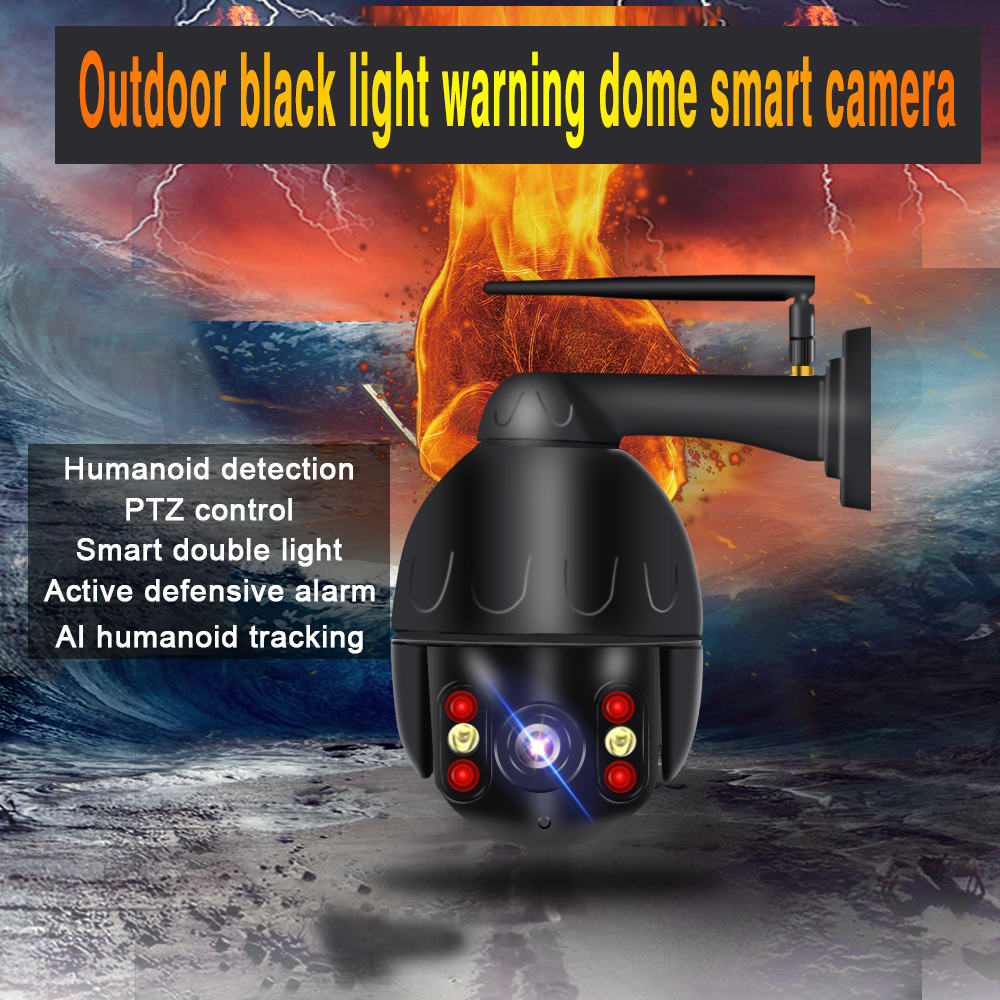 5X Zoom PTZ Speed Dome WIFI IP Camera 1080P Outdoor Security Outdoor Camera 1080p ip Camera with NVR ONVIF AI smart camera wifi