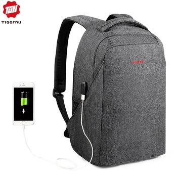 Tigernu Hard Shell Men Anti Theft shockproof 15.6inch Laptop USB Recharging Backpacks Travel Male Mochilas Schoolbag for Boys