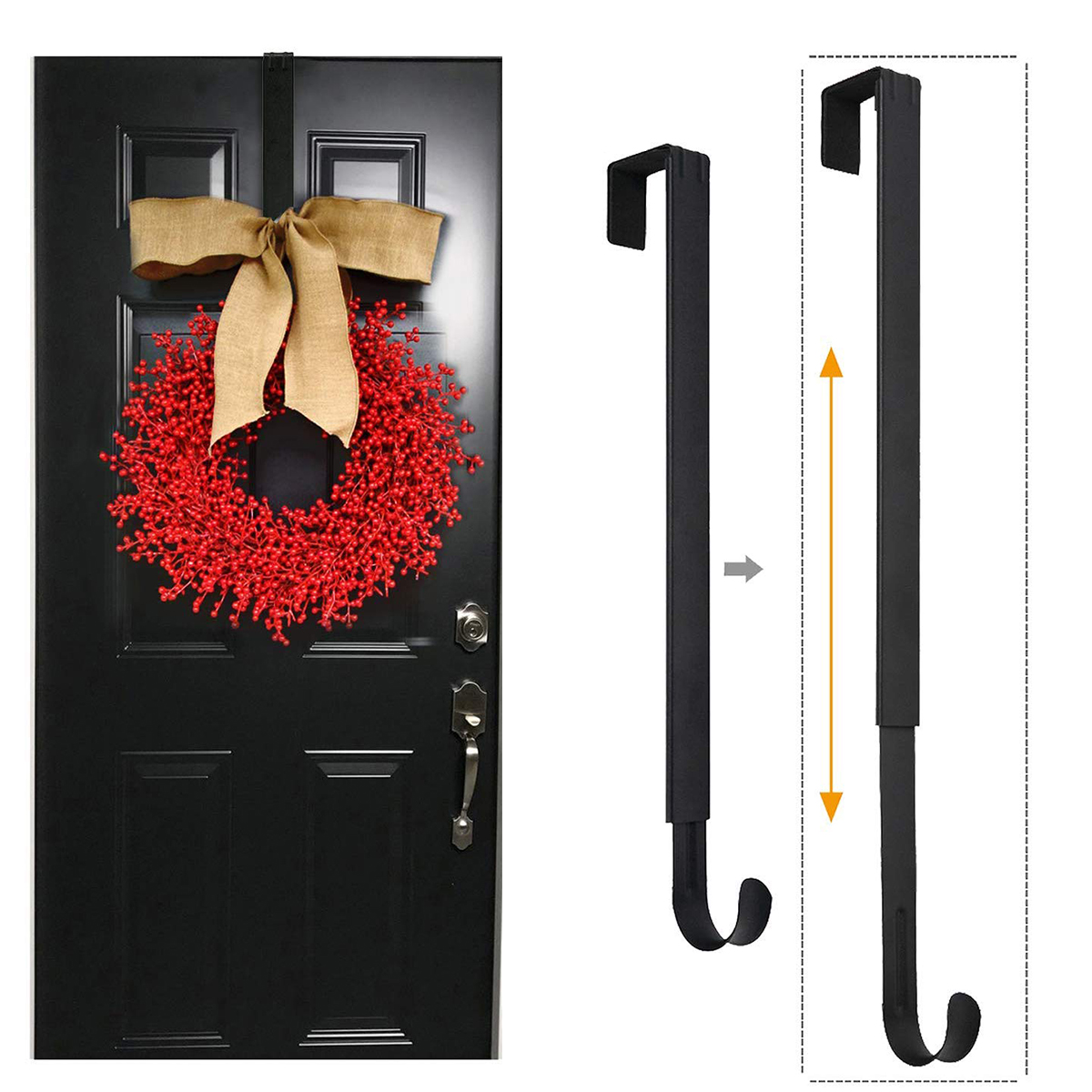 Christmas Garland Flower Ring Hooks Adjustable Door Hanger Retractable Wreath Storage Hook Christmas Decoration For Home