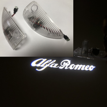 Alta clara porta do carro bem vinda luz projetor led para alfa romeo 147 e gt logotipo automático laser fantasma sombra lâmpada