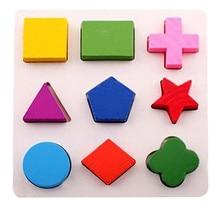 Детские деревянные геометрические Обучающие Развивающие игрушки блоки головоломки Монтессори ранние