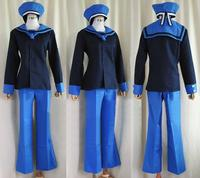 Anime APH Axis Power Hetalia Norway Military uniform Cosplay costume Custom Made halloween costumes for women/ men adult