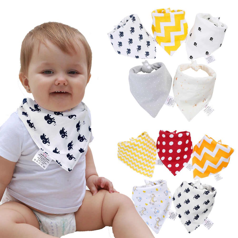베이비 반다나 Drool Bibs 100% Organic Cotton Bibs for Boys & Girls, 슈퍼 소프트 흡수성 먹이 Bibs Unisex Newborn Baby Bibs