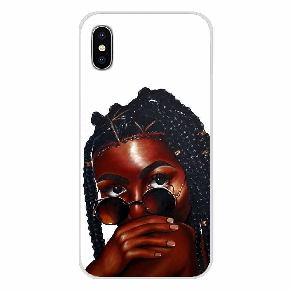 Dla Xiao mi mi 4 mi 5 mi 5S mi 6 mi A1 A2 5X6X8 9 Lite SE Pro mi Max mi x 2 3 2S Custo mi ze skrzynki afrykańskie piękno Afro Puffs czarna dziewczyna