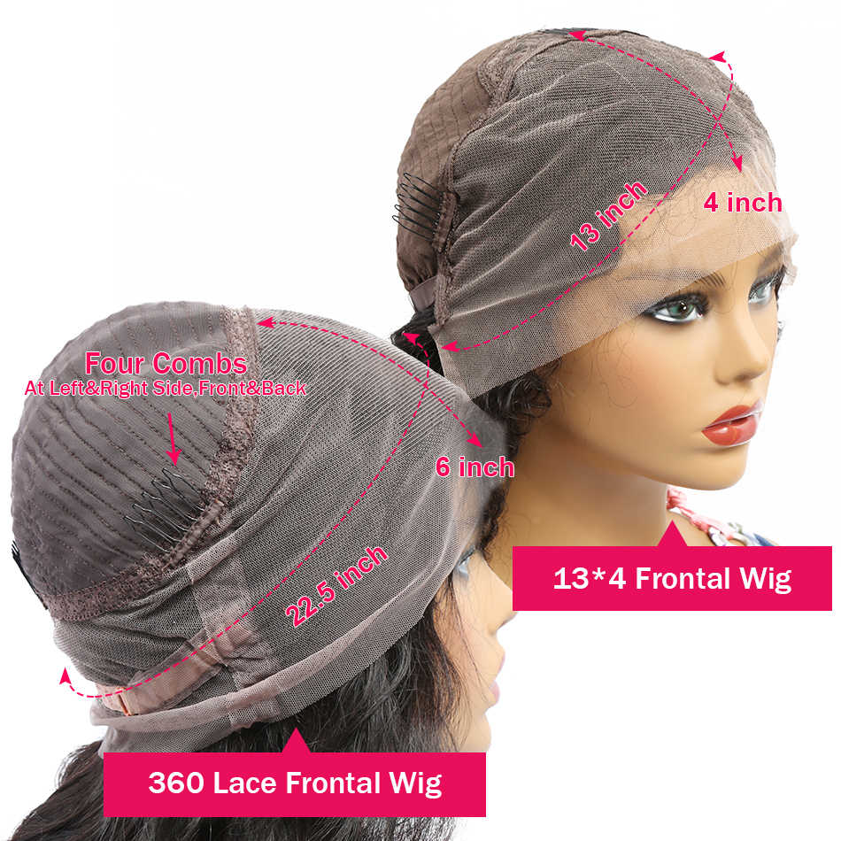 Melodie 28 30 Polegada perucas dianteiras do laço reto 180% densidade cabelo humano brasileiro para preto pré arrancadas 360 peruca frontal do laço