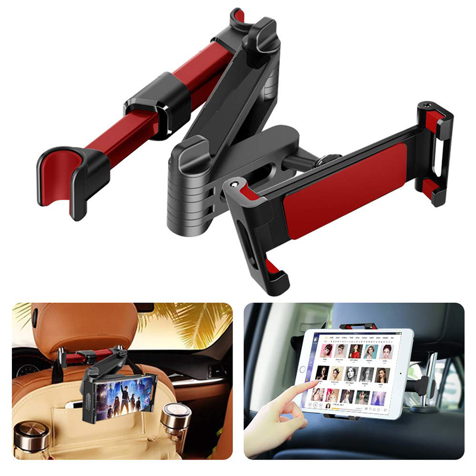 Car Tablet Holder Stand Car Headrest Tablet Mount Universal Backseat Tablet Holder For IPad Air/Mini Kindle Fire IPhone 7-11'
