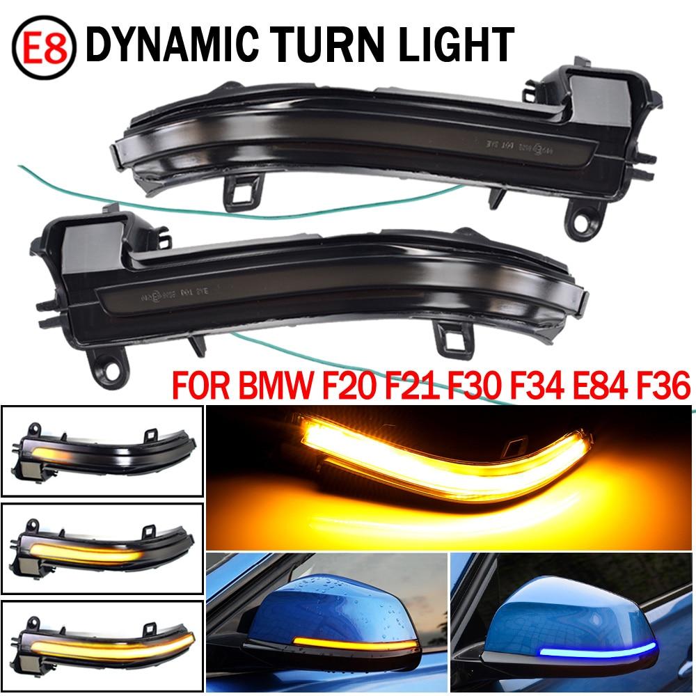 Светодиодный динамический сигнал рулевого управления, зеркальная световая вспышка для Bmw F20, F30, F31, F21, F22, F23, F32, F33, F34, X1, E84, 1, 2, 3, 4, 2 шт.