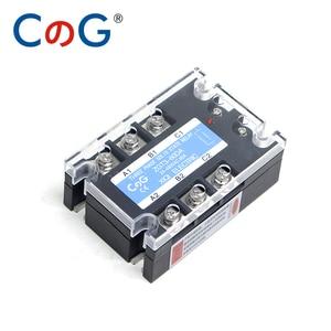 Image 4 - CG 3 Fase 60A 80A 100A DA Tre Fasi SSR 3 32V DC di Controllo 24 480V AC Relè A Stato Solido SSR DC A Relè AC