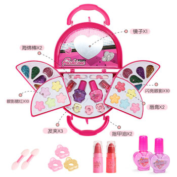 Girl Pretend Play Toy Set Beauty Makeup Cosmetic Bag Handbag Kids Party Toy Makeup Gift Set for 3 4 5 6 7 8 Years Old Girls bellylady kids girl makeup set eco friendly cosmetic pretend play kit princess toy gift
