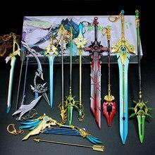 Genshin-llaveros de espada de impacto, Arma de Cosplay, Skyward Blade, anillos regalos colecciones