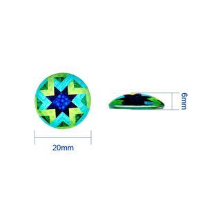 Image 5 - 200 PC สีผสมโมเสคพิมพ์แก้วครึ่งรอบ/โดม Cabochons เครื่องประดับสำหรับ DIY 10 มม.12 มม.14mm 16mm 18mm 20mm 25mm