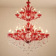 Красная светодиодная люстра освещение роскошный Европейский