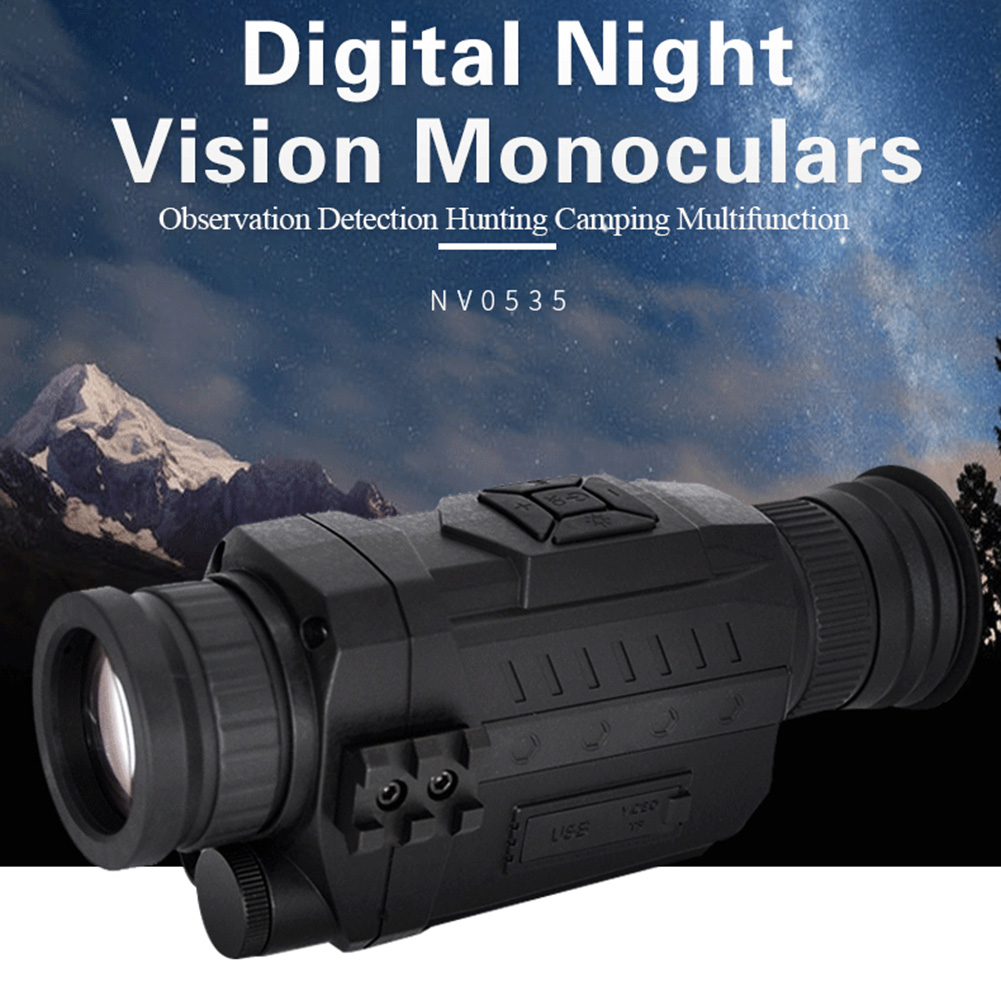 Night Vision Monocular 5X Infrared Digital Camera Video 200m Range Scope for Outdoor Hunting Camping Used To Takes Photos New - 5